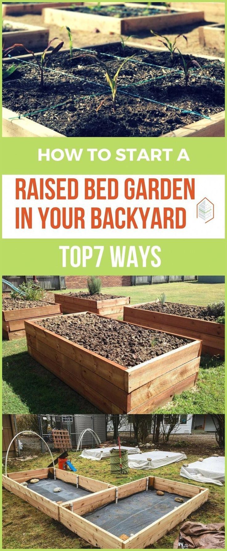 How to Start a Raised Bed Garden in Your Backyard: Top 7 Ways. If you love gardening, you may often wonder how to start a raised bed garden in your backyard to protect your plants from weeds and pests. #urbangardening #urbanfarming #gardening #diy #garden