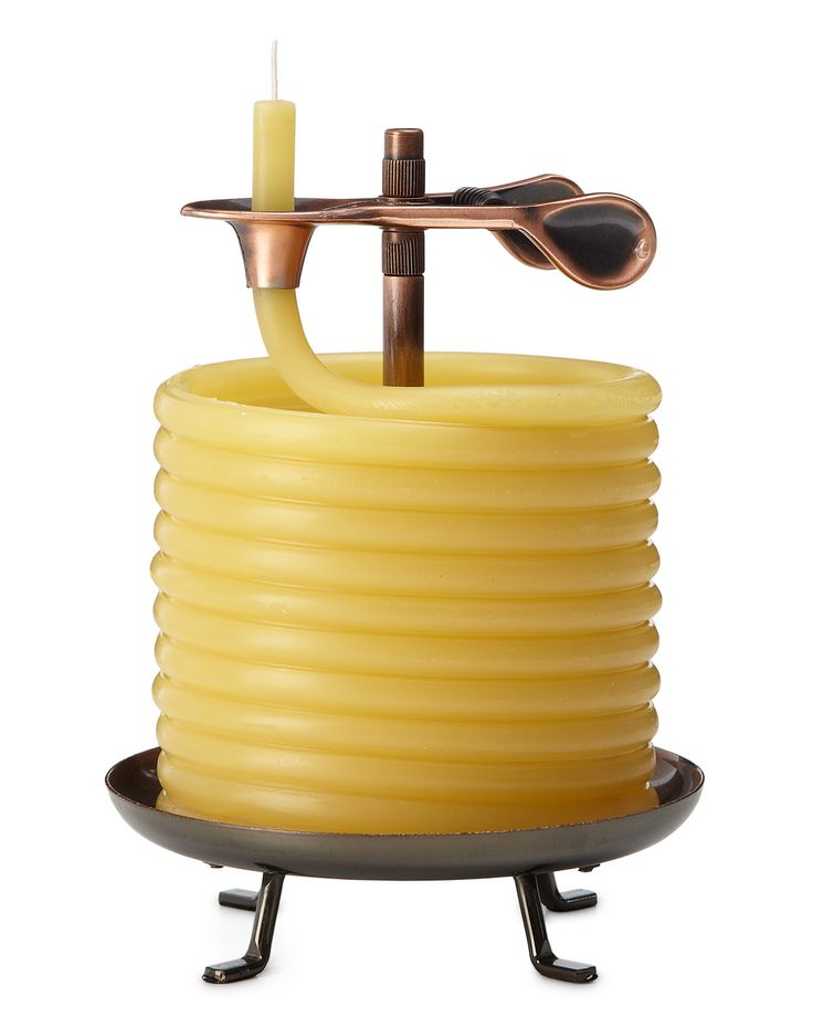 60 HOUR CANDLE  http://www.uncommongoods.com/product/60-hour-candle60 Hour, Uncommon Good, Beeswax Candles, Coil Beeswax, Smart Design, Eclipes Candles, Products, Uncommongood, Hour Candles