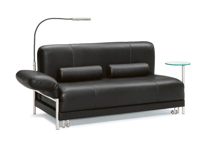 Sofá cama de cuero PLUG - IN - Wittmann