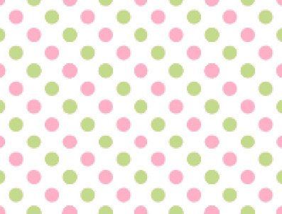 pink and green polka dots