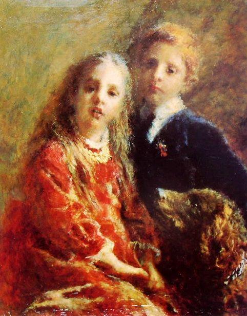 I Tre Amici (The Three Friends) by Italian painter Daniele Ranzoni (1843–1889)