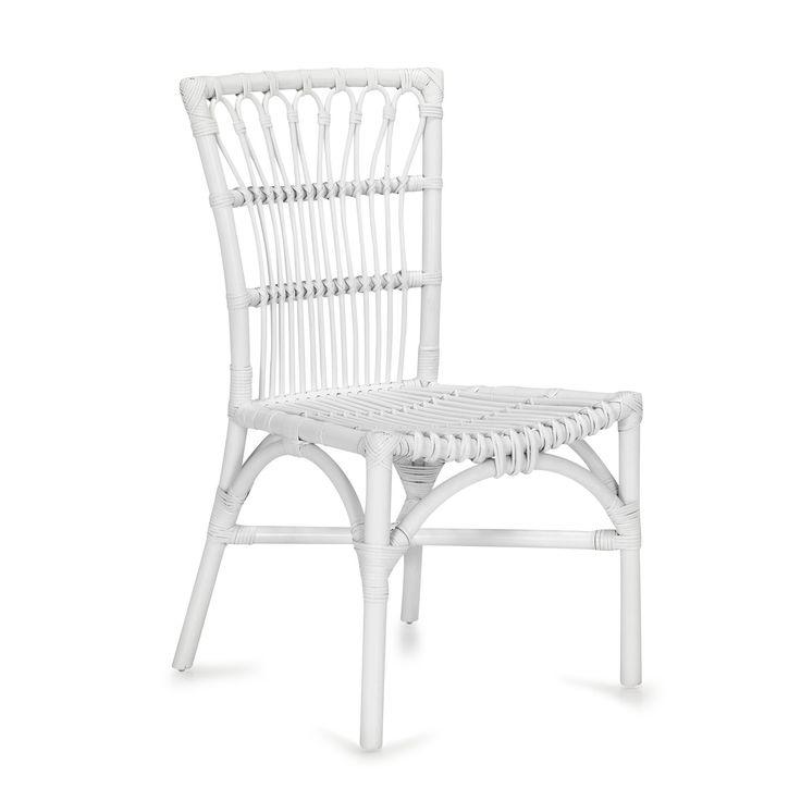 chaise en rotin blanche blanc naby chaises tables et chaises salon et salle manger. Black Bedroom Furniture Sets. Home Design Ideas