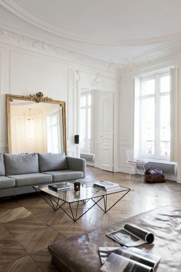 65 best Moulures images on Pinterest Moldings, Parisian apartment - Comment Decorer Un Grand Mur