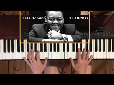(398) Hommage to Fats Domino, who died 25.10.2017.  Elegic version of Blueberry Hill - YouTube