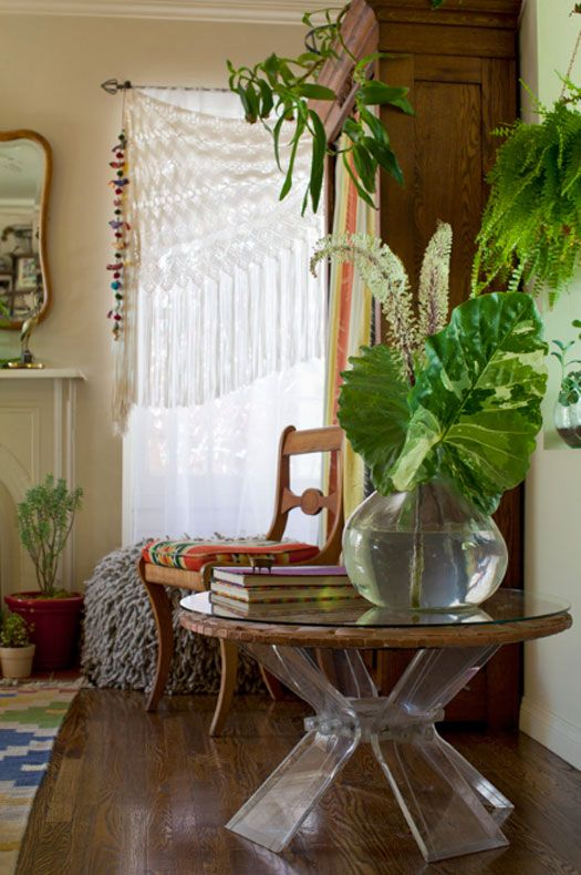 Creative leafy green centerpiece