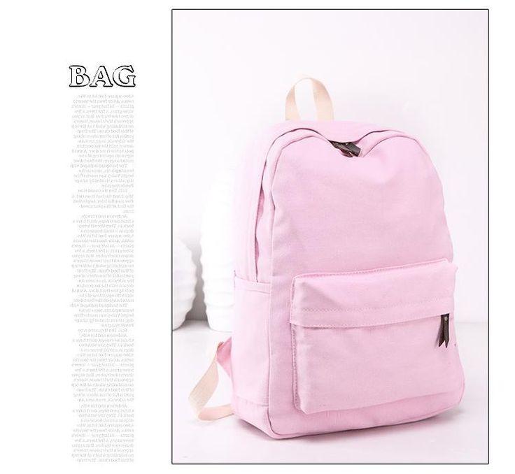 2016 New Japanese Canvas Solid School Backpack For Women Young Girl Hot Lona Escolar Mochila Feminina Women Backpacks