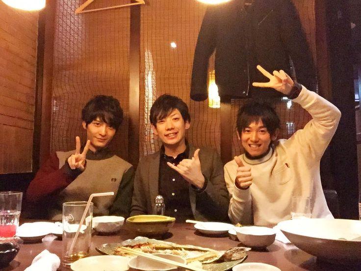 @DaiKing_boy · Jan 6 セルフタイマー機能をはじめてつかってみたよ!そして久しぶりに2人とご飯!!梅ちゃん、濱野くんありがとう!⊂((・x・))⊃
