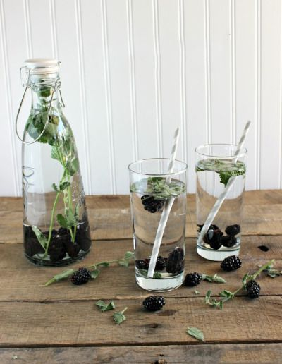 Blackberry mint: http://www.stylemepretty.com/living/2014/08/05/20-infused-water-recipes/