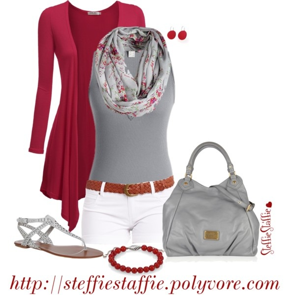 Red & Gray by steffiestaffie on Polyvore