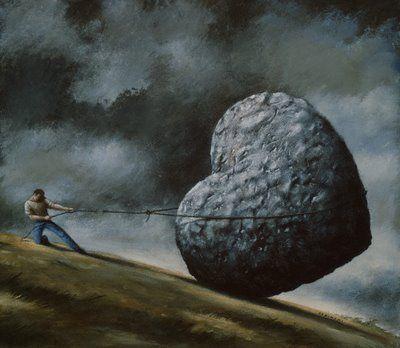 stone heart: Heavyheart, Idea, My Heart, Heartston Journey, Random Thoughts, Stones, Heart Quotes, Feelings, Heavy Heart