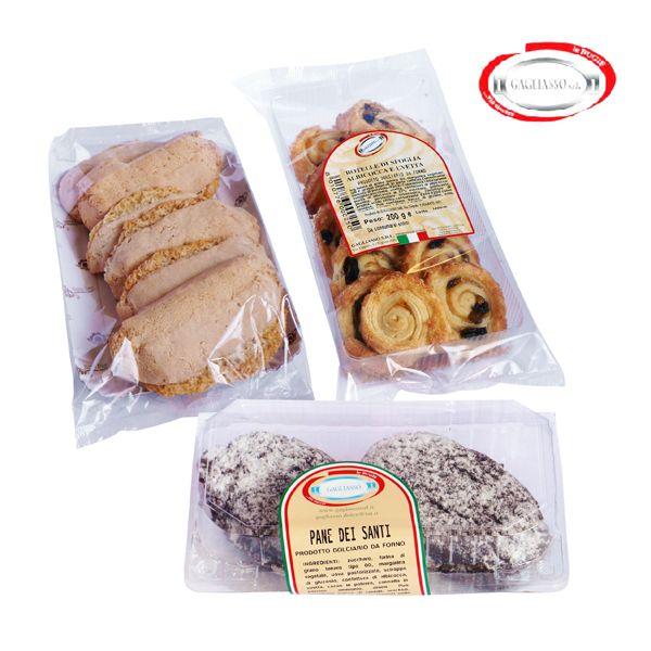 Pane dei Santi, Ossa da mordere e Rotelle di sfoglia all'albicocca e uvetta. Dolci deliziosi a soli € 1,99!!!