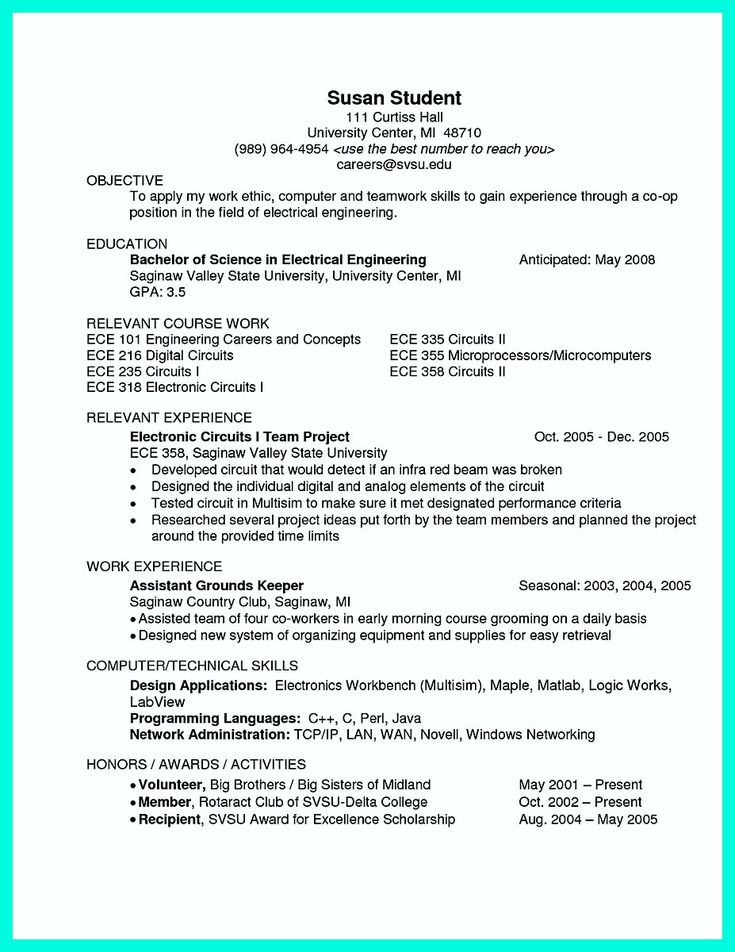 nice The Perfect Computer Engineering Resume Sample to Get Job Soon,