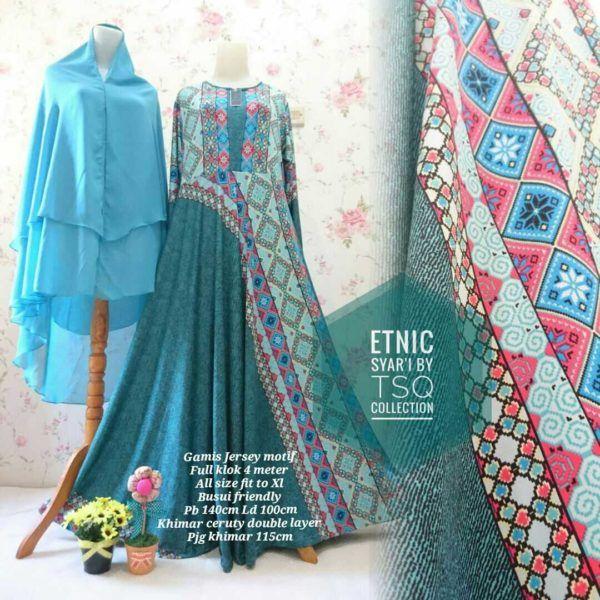 Model Baju Muslim Jumbo B099 Etnik Syar'i - http://bajumuslimbaru.com/baju-muslim-jumbo-b099-etnik-syari #BajuMuslimJumbo, #BajuMuslimUmbrella