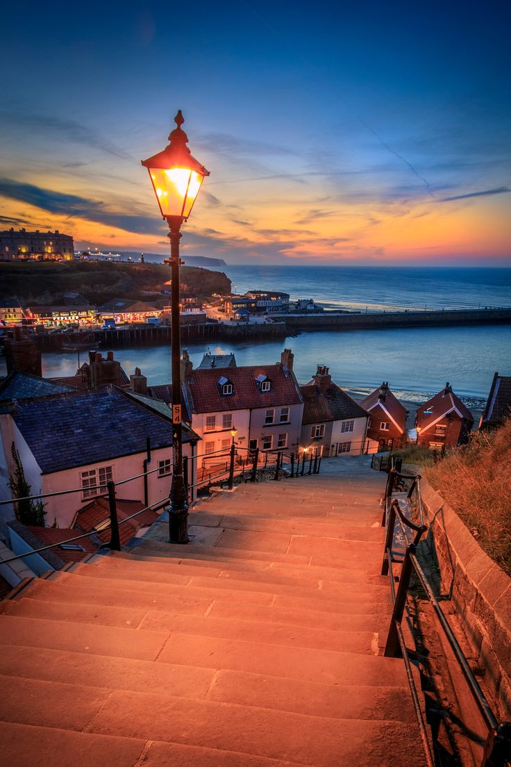 A view from the 199 steps whitby, North Yorkshire, UK