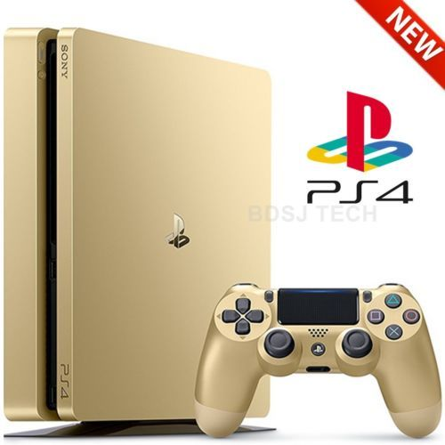 PlayStation 4 Slim 1TB Console PS4 GOLD LIMITED Edition