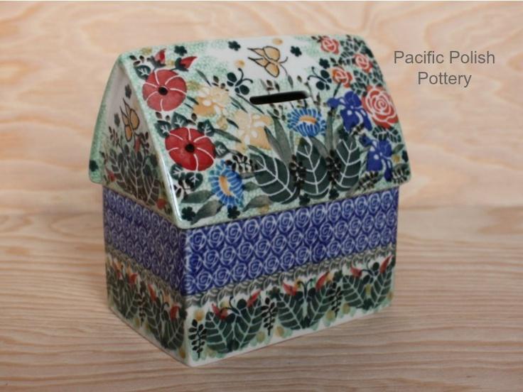 Polish Pottery Unikat Piggybank....I need this so I can save for all the polish pottery I want!