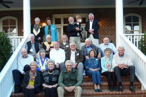 Flashback Friday: Eighteen classmates from the Class of '54 enjoyed a mini-reunion on the Old Campus. The group ate lunch at Shorty's so that women in the class, who were not allowed there when they were students, could finally say that they ate at Shorty's. They also toured the Wake Forest Historical Museum, the Calvin Jones House and the Old Campus, led by museum director Ed Morris (P '04). Bill Hedrick ('54, MD '57) and his wife, Merrie, hosted the class for dinner at their house.