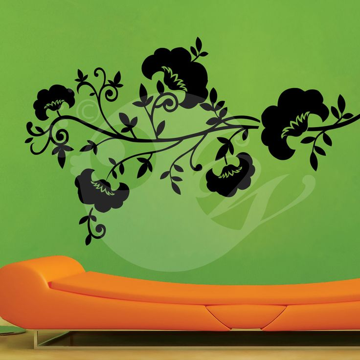 With this Cotton Flowers Wall Sticker Decal you can decorate your walls in one of the most modern and elegant ways