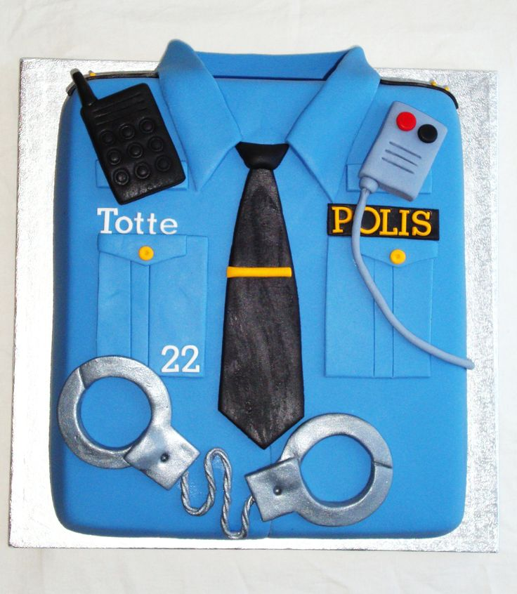 Police shirt Birthday cake