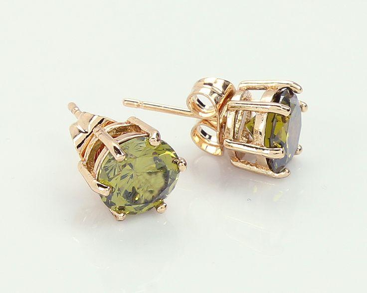 4ct Peridot Stud Earrings