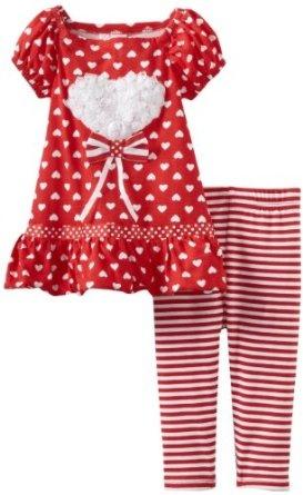 Pusat Baju Bayi Next - Youngland Bayi-Bayi perempuan Jantung Gaun Legging   Pusat Baju Bayi Terbesar dan Terlengkap Se indonesia