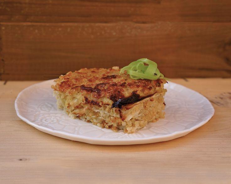 Lasagne di quinoa e porri
