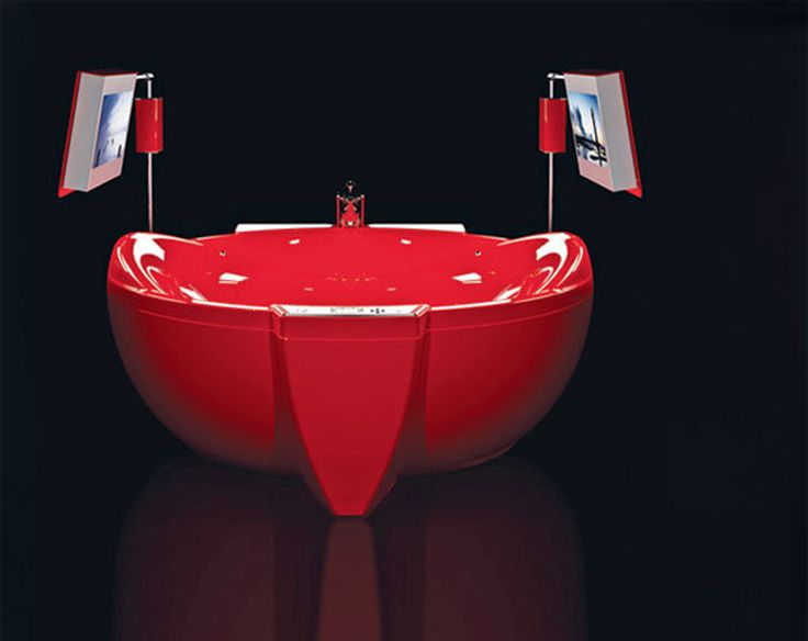 Home Decoration, Red Diamond Luxury Bathtub Design: Unique Bathtubs  Luxurious Design To Beautify Your