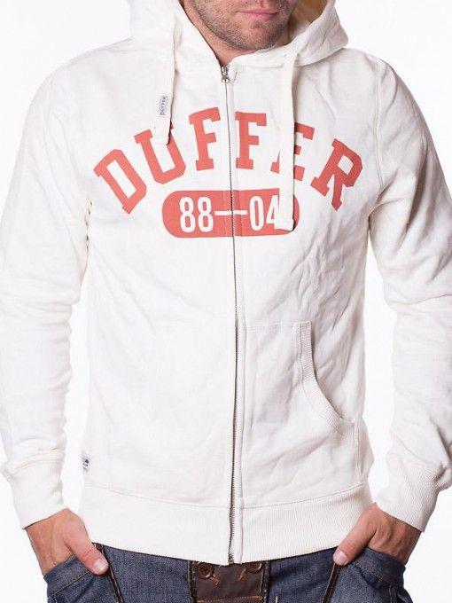 Hanorac barbati Duffer - alb