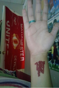 manchester united fc tattoo