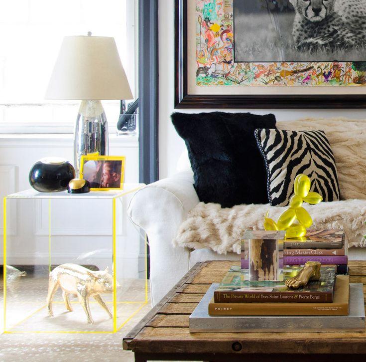 Coffee Table Decor Yellow Living Room
