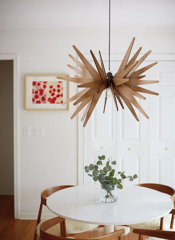 "modern wooden handmade pendant light ""star"" lasercut.Made with 4mm plywood (all scraped with sandpaper and varnished 3 times) #DEZAART #pendantlight #pendantlighting #chandelier"
