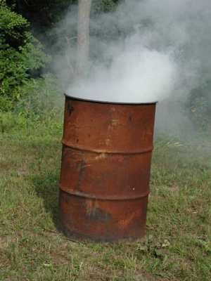 Burn Barrel.  Loved the smell of burning leavesw in the fall.