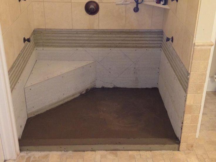 How To Build A Concrete Shower Pan Http Lanewstalk Com