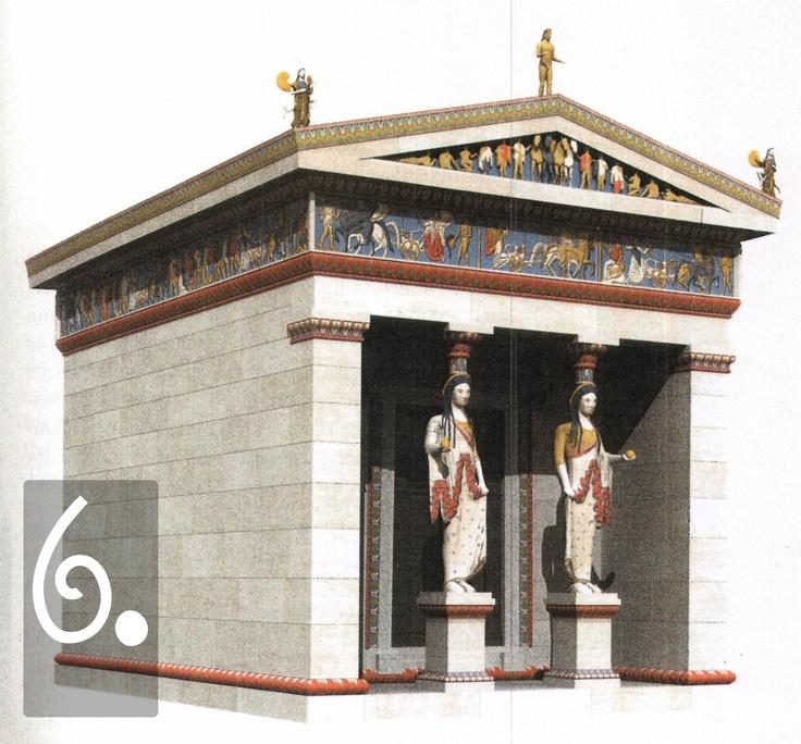 Certo, c'è sempre questa idea che i templi greci fossero tutti bianchi (un errore che ha dato origini a fiumi di pagine sul valore dell'estetica greca, il marmo bianco contro il mare blu etc), mentre nella realtà erano colorati. Le statue, in particolare, erano pitturate in modo da sembrare persone vere, e l'effetto doveva essere quasi terrificante nel caso delle grandi statue 'segrete' come l'Atena Parthenos.