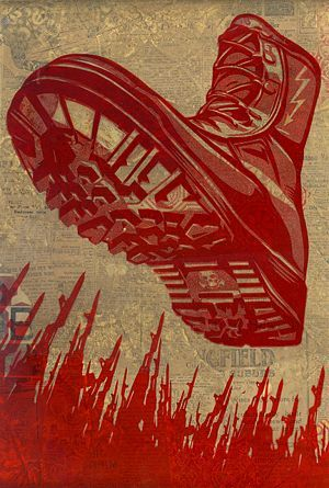 Tyrant Boot Rubylith - The Giant: The Definitive Obey Giant Site