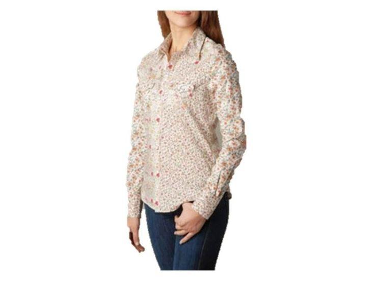 True Religion Women's Floral Sunrise Georgia Shirt, XS. floral print.