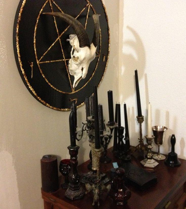 satanic altar set up - Google Search