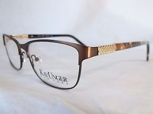 kay unger glasses frame k183 brn satin brown gold stones 53 15 140 new authentic ebay available at costco eyeglasses pinterest satin