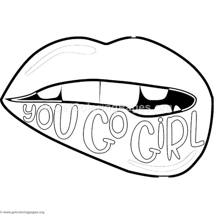 Free Instant Download You Go Girl Coloring Pages Coloring