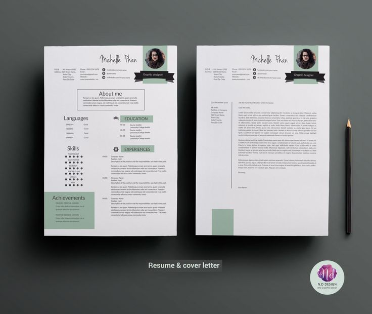 This elegant and professional resume will help you get noticed! The package includes a resume sample, cover letter and references example in a pretty chic theme. This template is easy to change colours, layout and fonts to suit your needs. These templates work in Microsoft Word and Adobe Illustrator .