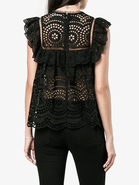 Zimmermann кружевная блузка без рукавов
