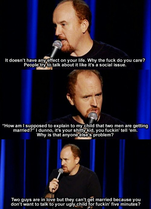 Louis ck, explains it perfectly as usual.