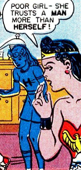"Comic Girls Say..""poor girl- she trusts a man more then herself "" #comic #WonderWoman (1946)"