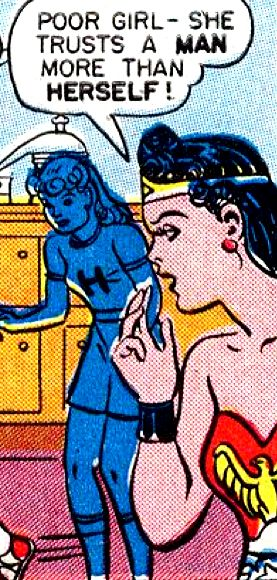 "Comic Girls Say..""poor girl- she trusts a man more then herself "" #comic #WonderWoman (1946)"