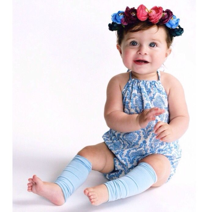 Baby Scarlett wearing our beautiful handmade Seren playsuit! She is just adorable  www.madelinespocket.com.au