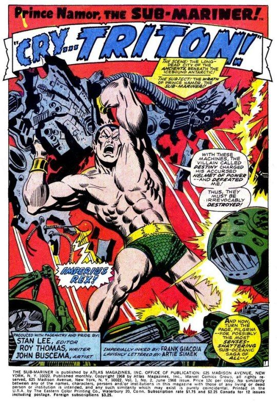Splash Pages Of John Buscema