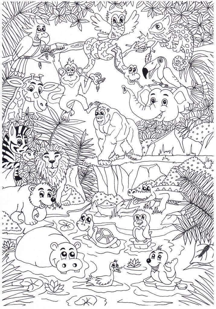 op zoek naar een leuke dierenkleurplaat bekijk dan eens