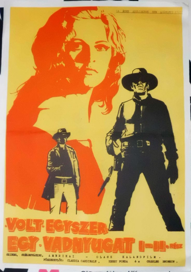 """Once Upon a Time in the West  Volt egyszer egy vadnyugat (1968) """"C'era una volta il West"""" Hungarian vintage movie poster"""