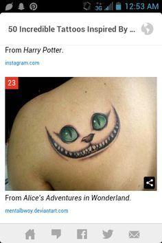 Alice In Wonderland tattoo cat