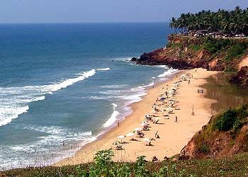 A Beach in Kerala, India
